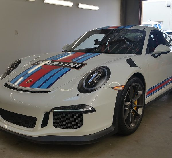 Full Car wrap and Martini livery, Porsche GT3 RS